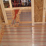 Radiant heat tubing.