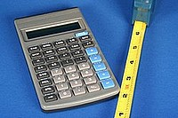 Tools for measuring  and calculating.