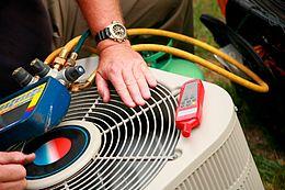 Maintenance testing on condenser.