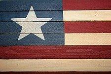 Americana Wooden Flag
