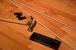 Laminate a good alternative to natural hardwood.