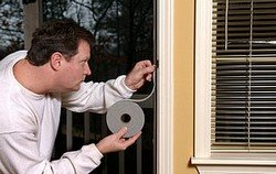 Weatherstripping will stop air infiltration.